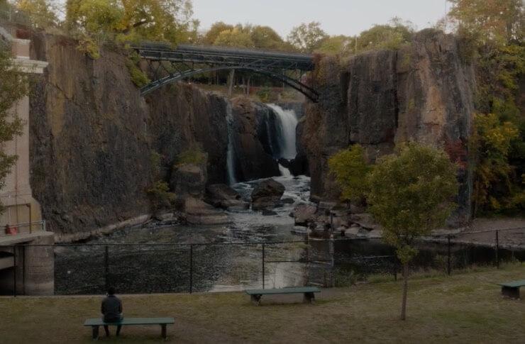 Водопад в городе Патерсон